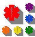 ceremony ribbon cut sign set of red orange vector image