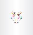 colorful tiger face icon logo vector image