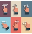 Gesture icons for touch devices vector image