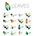 Leaf logo set vector image