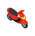 Motorbike icon isometric 3d style vector image