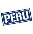 peru blue square stamp vector image