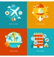 travel and tourism icons set vector image