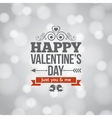 valentines day silver lights vintage background vector image