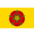 Flag of Lancashire vector image