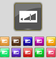 Volume adjustment icon sign Set with eleven vector image