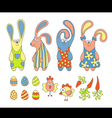 Cute cartoon rabbits vector image vector image