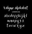 ralyno alphabet typography vector image