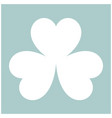 clover the white color icon vector image vector image