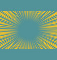 blue yellow pop art background light from the vector image vector image