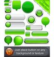 Green high-detailed modern buttons vector image