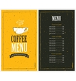 price list and a cup of coffee vector image vector image
