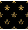 Golden fleur-de-lis seamless pattern black 3 vector image