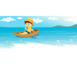 on the water vector image vector image