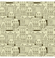 City seamless pattern vector image