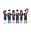 graduation students vector image