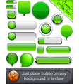 Green high-detailed modern buttons vector image