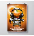 Halloween Party Flyer Design with pumpkin vector image