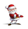 Happy Santa Showing vector image