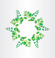 spring green leafs circle background vector image