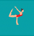 synchronized swimming performance vector image