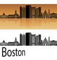 Boston skyline in orange vector image