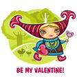 be my Valentine's card vector image vector image