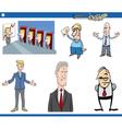 cartoon business set vector image