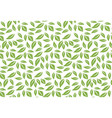 Greenery leaf seamless pattern background vector image