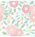 cute pastel peony flowers on white vector image