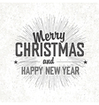 merry christmas monochrome vector image vector image