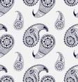 Seamless pattern henna style vector image