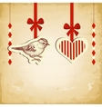 vintage love card vector image vector image
