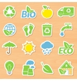 Eco Stickers Set vector image