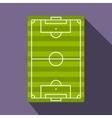 Football playground flat icon vector image
