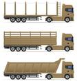 truck semi trailer 14 vector image