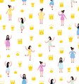 Little princesses pattern vector image
