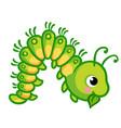a caterpillar that eats vector image