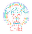 concept of childrens creativity girl vector image
