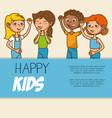 cute colorful kids template vector image