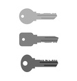 Housing key set Simple key from keyhole in door of vector image