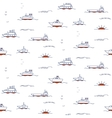 Seamless pattern with doodle ships vector image