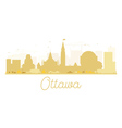 Ottawa City skyline golden silhouette vector image