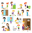 Kid Cleaning Set vector image