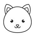 cute and tender hamster kawaii style vector image