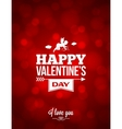 valentines day red light background vector image