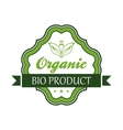 Organic bio product emblem or label vector image vector image