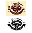 Premium coffee banner vector image