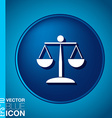 icon of the scales of justice symbol of justice vector image