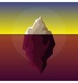 Iceberg on Sunset Atlantic Background vector image